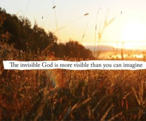 god, invisible, and jesus image