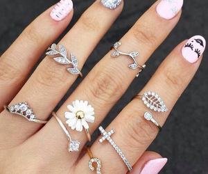 nails, polish, and pink image