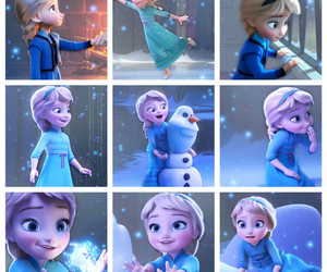 elsa, frozen, and olaf image