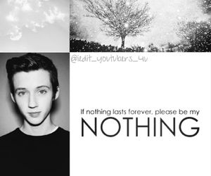 black and white, troye sivan, and youtube image