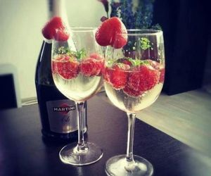 strawberry, drink, and martini image