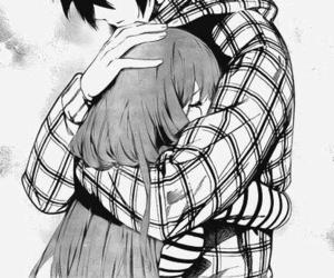 anime, love, and hug image