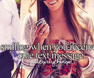 text, smile, and message image