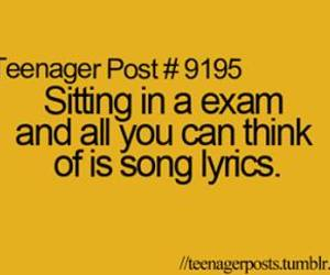 exam, quotes, and teenager post image