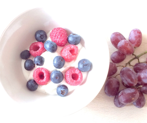 blueberry, food, and grapes image