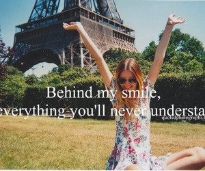 girl, quote, and smile image