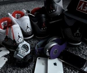 iphone, jordan, and obey image