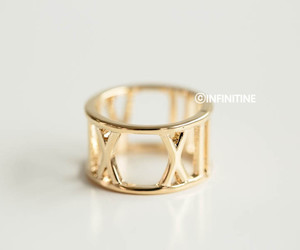 lucky number, custom jewelry, and roman numeral ring image