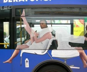 funny, bus, and lol image