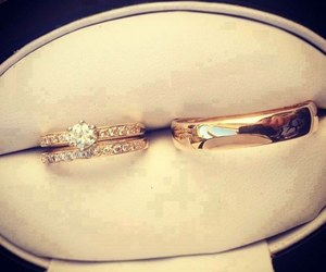 wedding, ring, and rings image