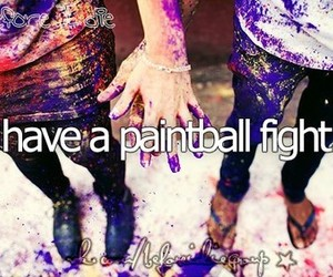 before i die, fight, and paintball image