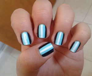 blue, nail art, and nail polish image