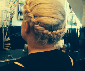 braid, hairdressing, and plait image