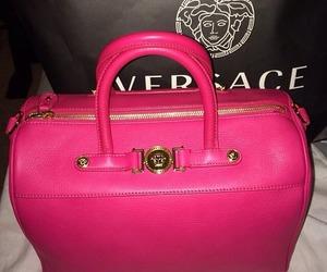 Versace, bag, and pink image
