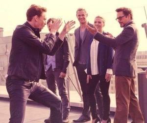 Scarlett Johansson, tom hiddleston, and chris hemsworth image
