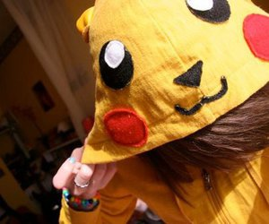 pikachu, girl, and cute image