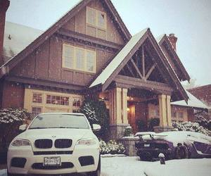 adorable, snow, and car image
