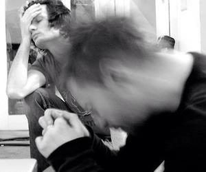 Jonny Greenwood, radiohead, and thom yorke image