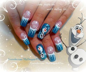 nail art, winter nails, and frozen nails image