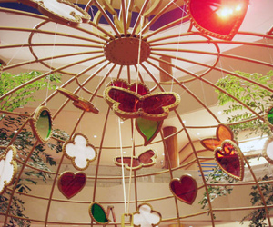 birdcage, clover, and butterfly image