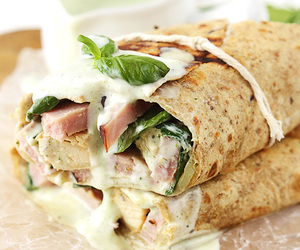 wrap, Chicken, and food image