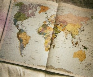 map, world, and vintage image