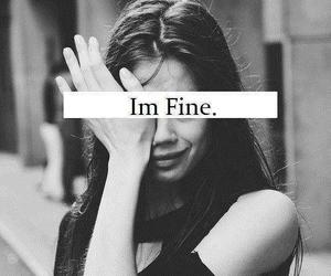 sad, fine, and cry image