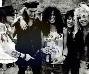 Guns N Roses, axl rose, and black and white image