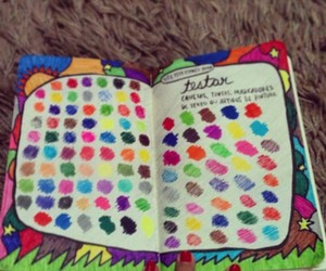 book, colors, and diary image