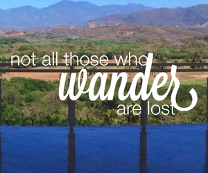 quote, wander, and lost image