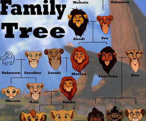 disney, lion king, and family tree image