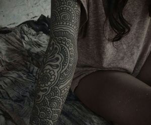 girly, lovely, and tatto image