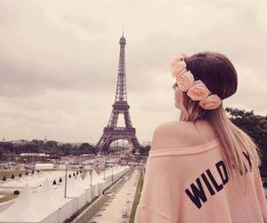 paris, girl, and pink image
