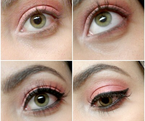 eyeliner, eyes, and green image