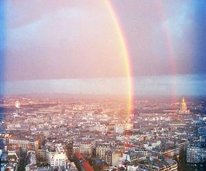 beautiful, city, and rainbow image