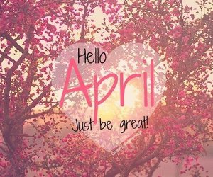 april, great, and pink image