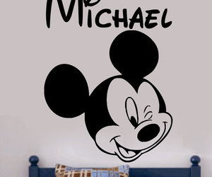 disney, mickey mouse, and wall decor image