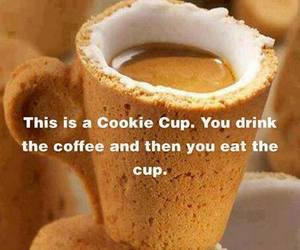 coffee, cookie, and cup image