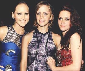 emma watson, kristen stewart, and Jennifer Lawrence image