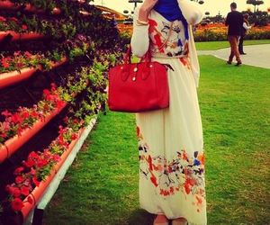 hijab, fashion, and bag image
