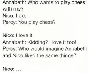 chess, percy jackson, and annabeth chase image