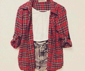 outfit, red, and shirt image