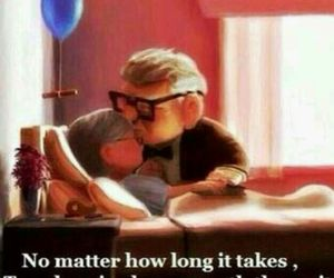love, up, and true love image