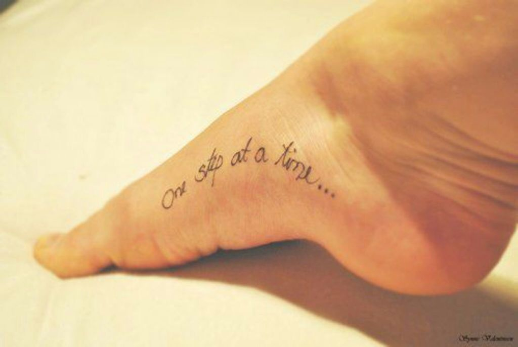 Tattoo One Step At A Time 3 On We Heart It