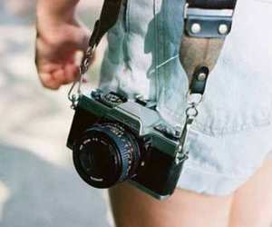 blue, camera, and shorts image