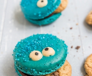 monster, cookie, and macarons image