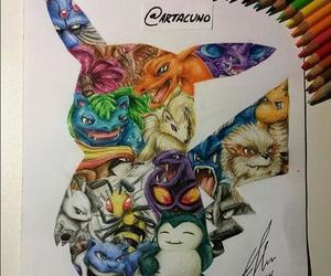 pokemon, art, and drawing image