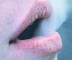 smoke, lips, and grunge image