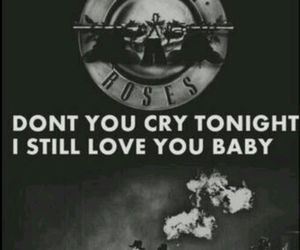 Guns N Roses, don't cry, and rock image