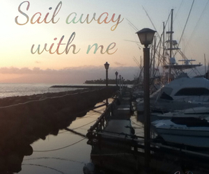 boat, couple, and quote image